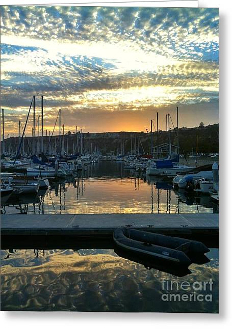 Sunset Reflections Greeting Card by Traci Lehman