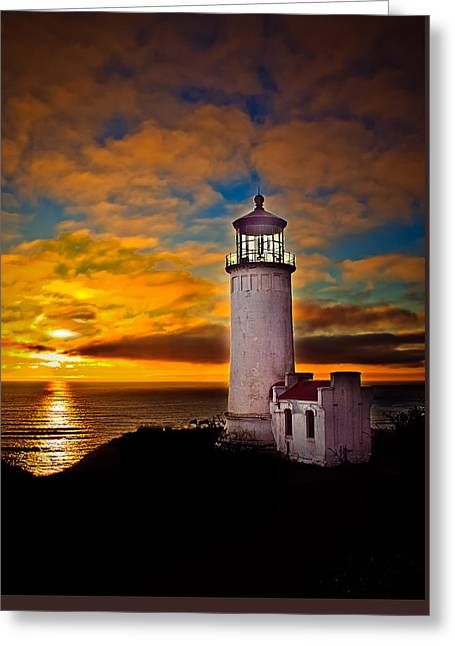 Sunset Greeting Card by Robert Bales
