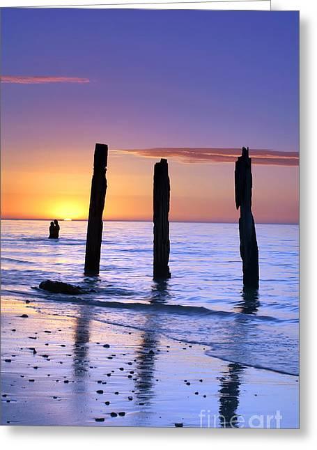 Sunset Romance Greeting Card by Bill  Robinson