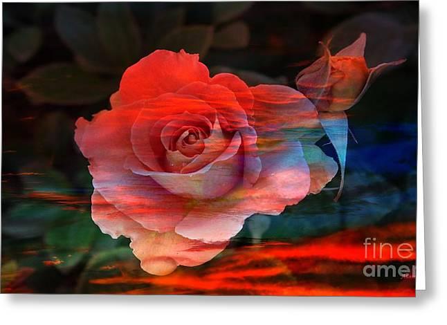 Sunset Rose Greeting Card