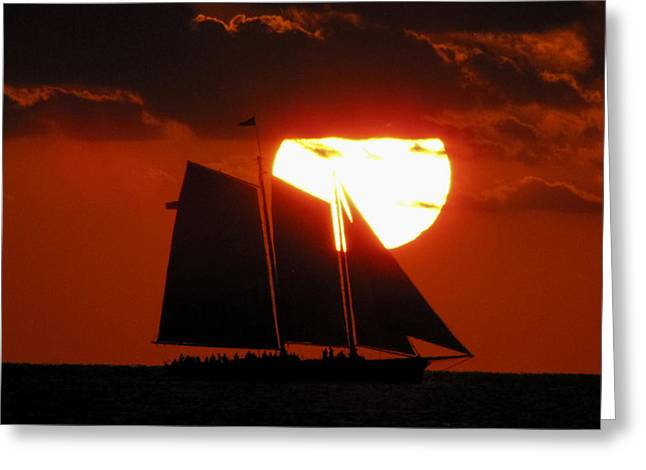 Key West Sunset Sail 5 Greeting Card