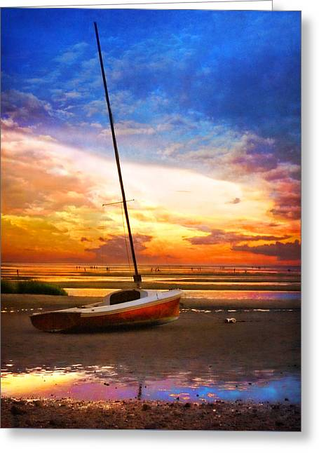 Sunset Sail Greeting Card by Tammy Wetzel