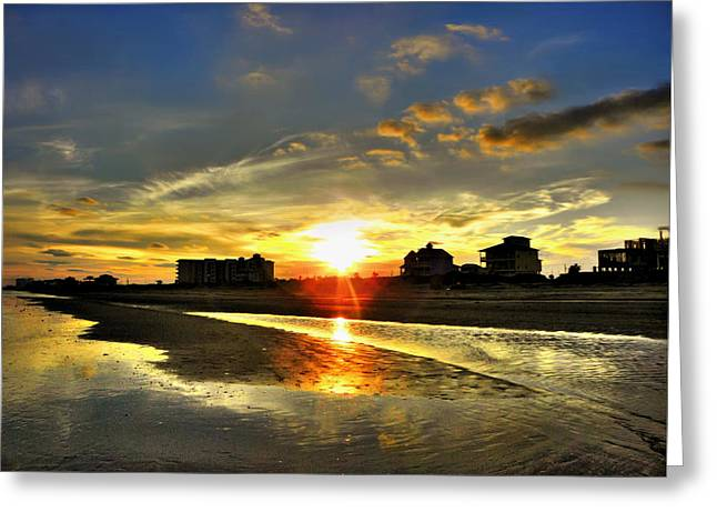 Greeting Card featuring the photograph Sunset by Savannah Gibbs