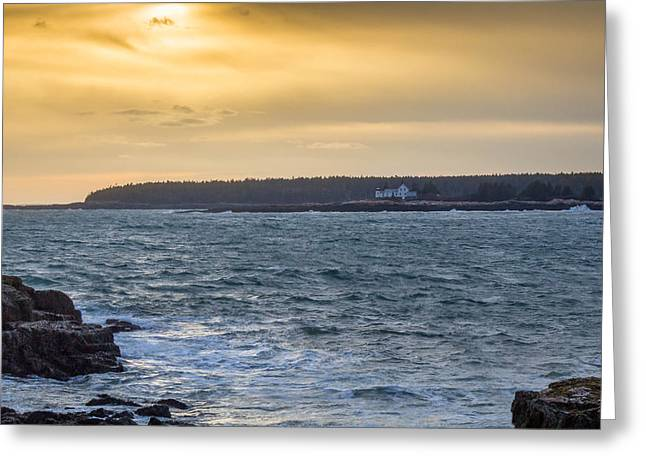 Greeting Card featuring the photograph Sunset Schoodic Peninsula by Trace Kittrell