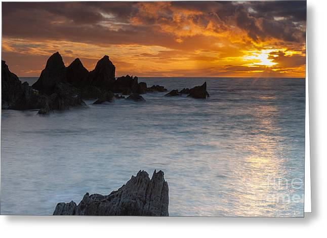 Sunset Greeting Card by Sebastian Wasek