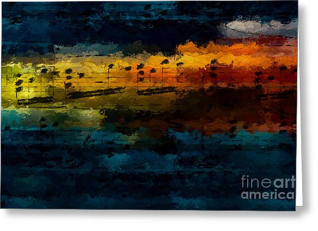 Greeting Card featuring the digital art Sunset Serenade by Lon Chaffin