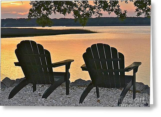 Greeting Card featuring the photograph Sunset Serenity by Carol  Bradley
