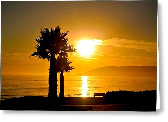 Greeting Card featuring the photograph Sunset Serenity  by Tamara Bettencourt