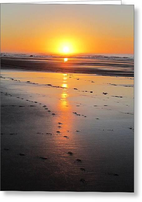 Sunset Series No.10 Greeting Card by Ingrid Van Amsterdam