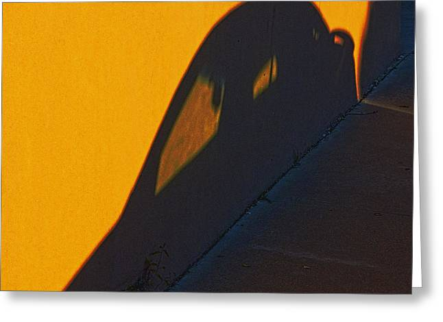 Greeting Card featuring the photograph Sunset Shadow Car by John Hansen
