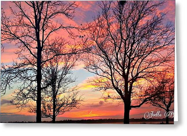 Sunset Shadow Greeting Card by Joetta Beauford