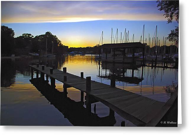 Greeting Card featuring the photograph Sunset Silhouette by Brian Wallace