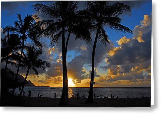 Greeting Card featuring the photograph Sunset Silhouettes by Lynn Bauer