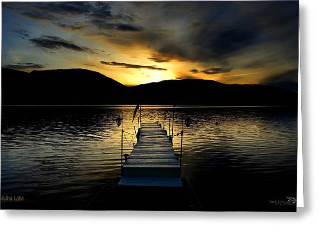 Sunset Skaha Lake Greeting Card