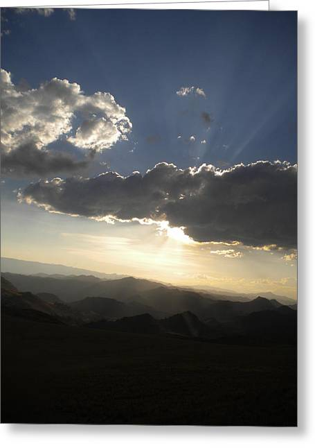 Sunset Skies Over The Andes Greeting Card