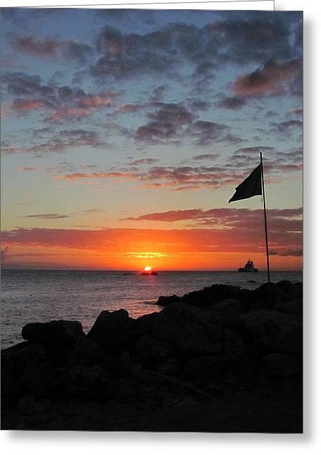 Sunset Sky Greeting Card