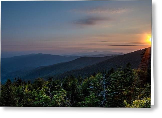 Sunset Smokey Mountains  Greeting Card