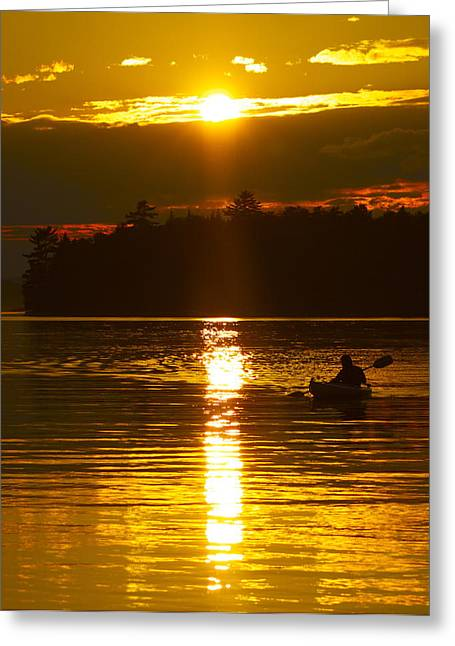 Sunset Solitude  Greeting Card by Alice Mainville