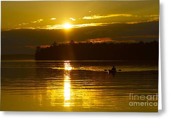 Sunset Solitude II Greeting Card by Alice Mainville