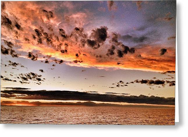 Sunset South America Greeting Card