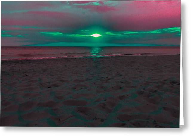 Sunset Spectrum Greeting Card by Dan Sproul