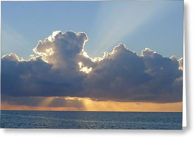 Sunset St. Lucia IIi Greeting Card