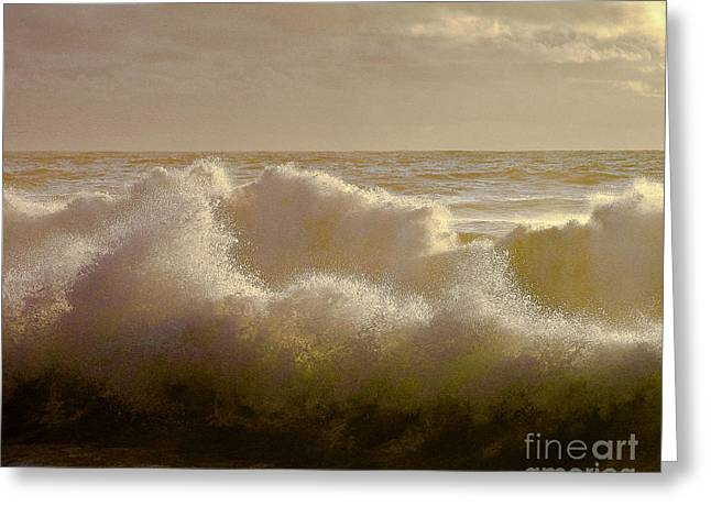 Sunset Storm Surf Greeting Card