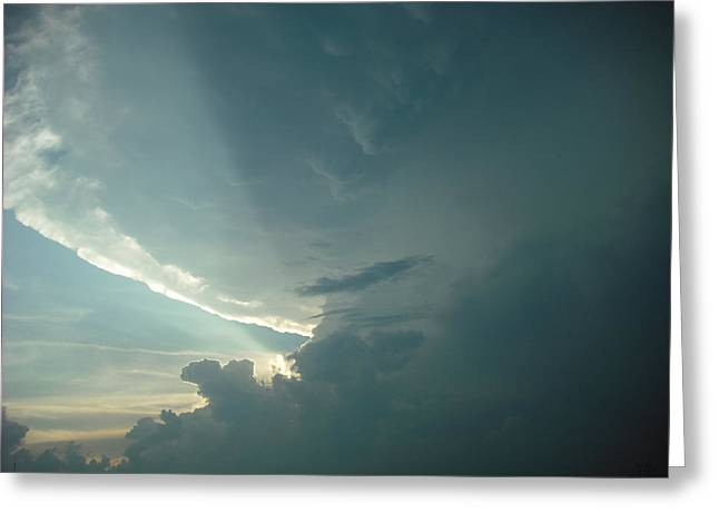 Greeting Card featuring the photograph Sunset Supercell by Ed Sweeney