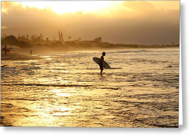 Sunset Surf Session Greeting Card