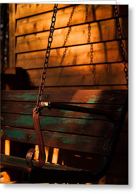 Greeting Card featuring the photograph Sunset Swing by Haren Images- Kriss Haren
