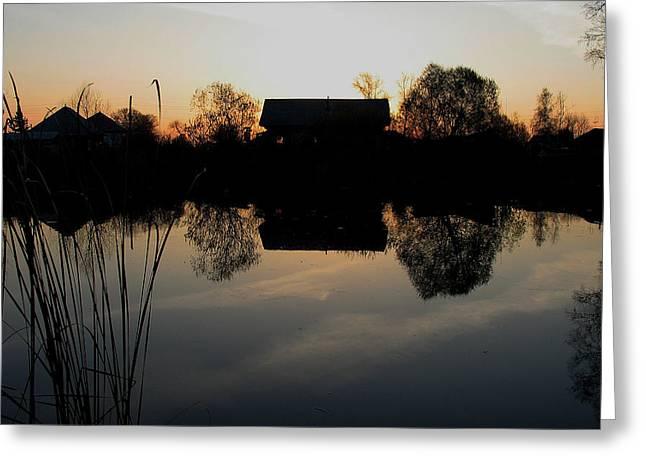 Sunset Talmenka Greeting Card by Alexei Biryukoff