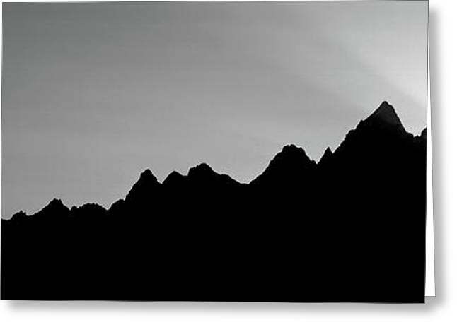 Sunset Teton Range Grand Teton National Greeting Card by Panoramic Images