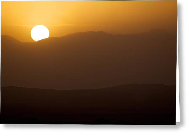 Sunset The Ruby Mountains Wells Nevada Greeting Card