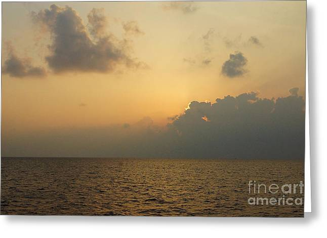 sunset time Oahu Greeting Card by Nur Roy