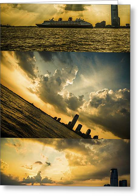 Sunset Trilogy Greeting Card