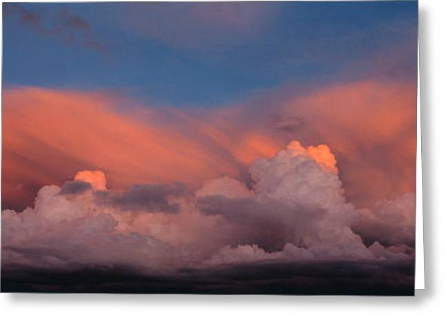 Sunset Ut Usa Greeting Card by Panoramic Images