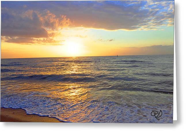 Sunset Greeting Card by Ute Posegga-Rudel