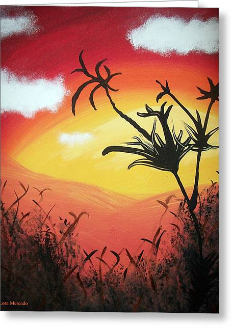 Sunset Valley Greeting Card