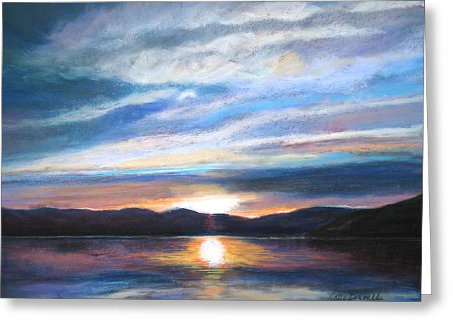 Sunset Greeting Card by Vicki Brevell