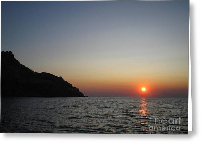 Greeting Card featuring the photograph Sunset by Vicki Spindler
