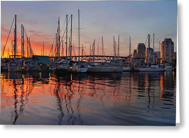 Greeting Card featuring the photograph Sunset View From Charleson Park In Vancouver Bc by JPLDesigns