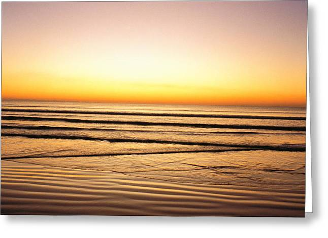 Sunset View Over Sea Greeting Card