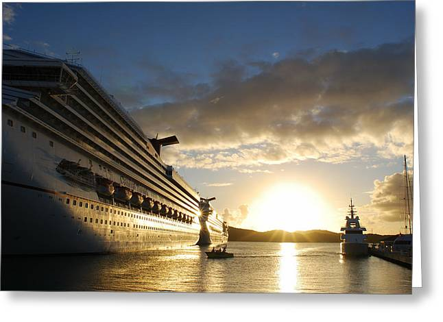 Sunset Voyage Greeting Card
