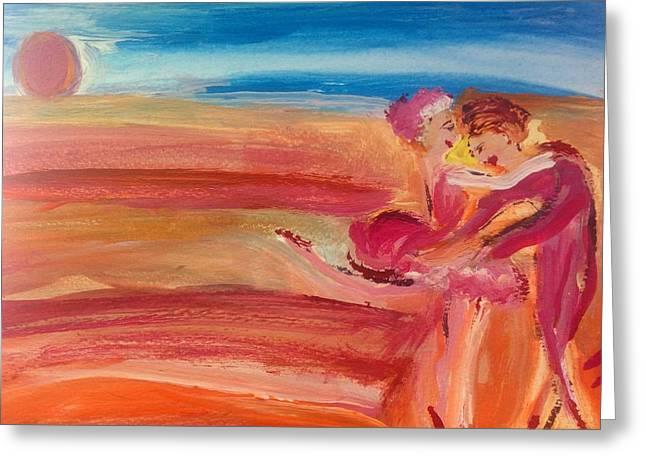 Sunset Waltz Greeting Card by Judith Desrosiers