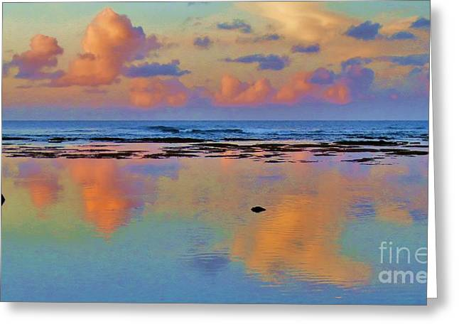Sunset Water Color Greeting Card
