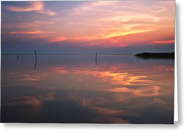 Sunset Whalehead Club Greeting Card