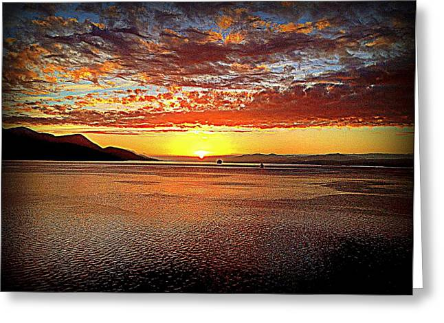 Sunset While Cruising The World Greeting Card by John Potts