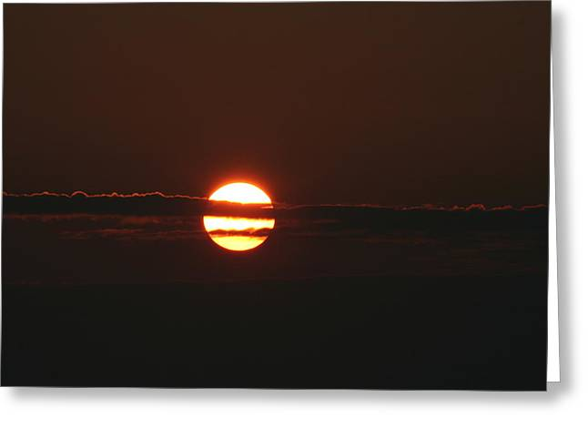 Sunset With Cloud Greeting Card by Carolyn Reinhart