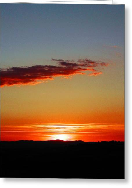 Sunset With Lines Greeting Card by Dorothy Berry-Lound