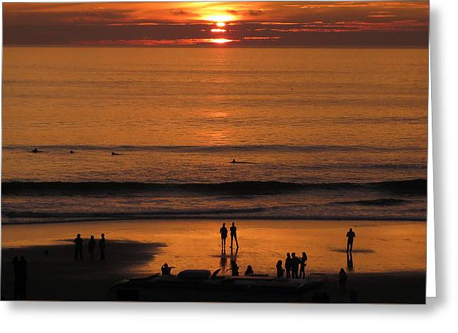 Sunset Worship Greeting Card by Charles Ables